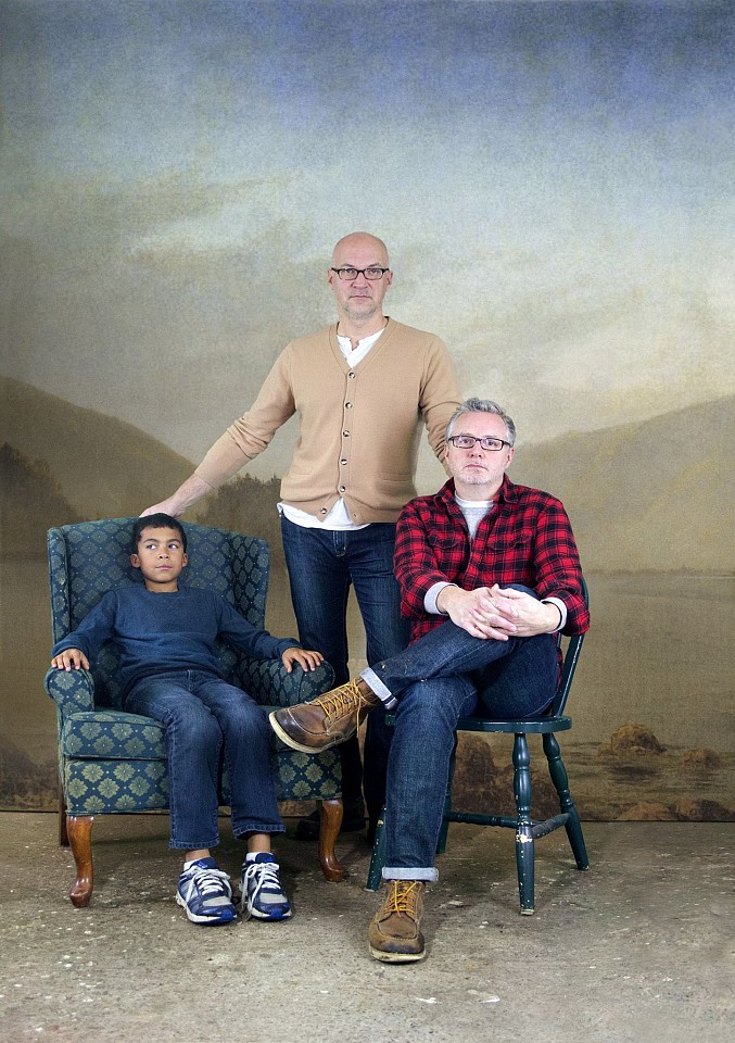 Oliver Wasow, Chris, David and Michael 2014, Archival inkjet