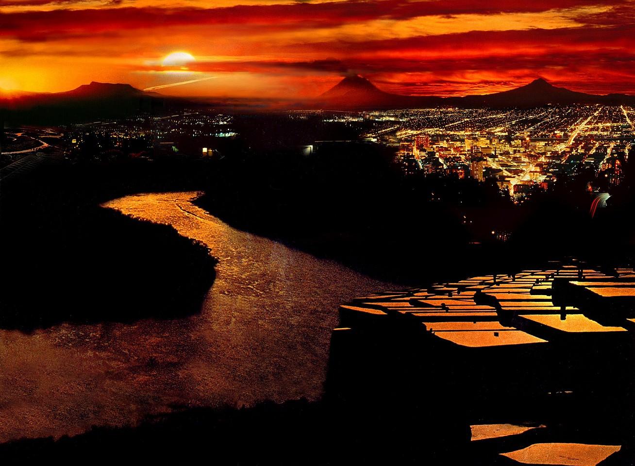 Oliver Wasow, Kusiro River, Hokkaido, Japan 1997, Archival inkjet