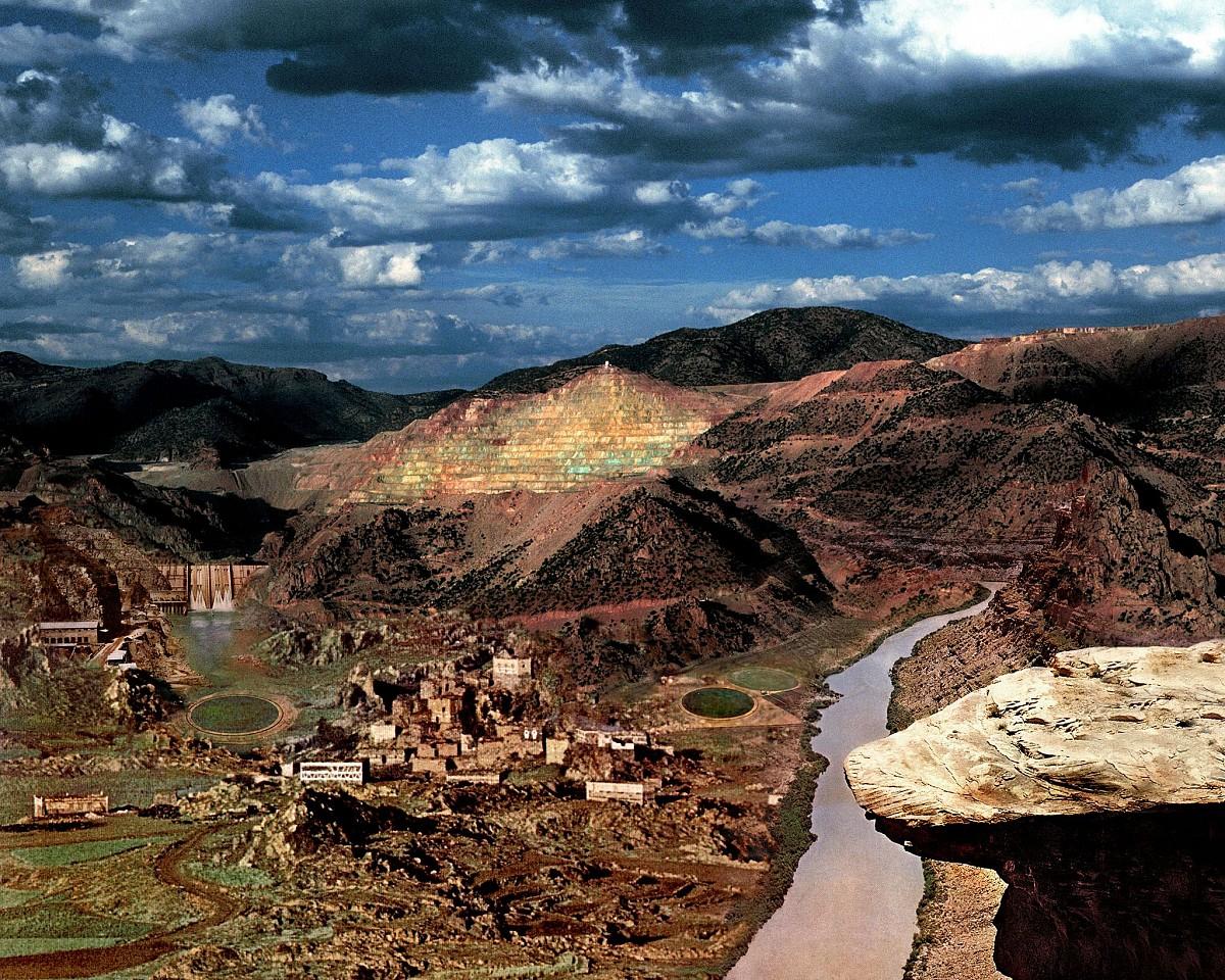 Oliver Wasow, Morenci Copper Mine, Arizona 1996, Archival inkjet