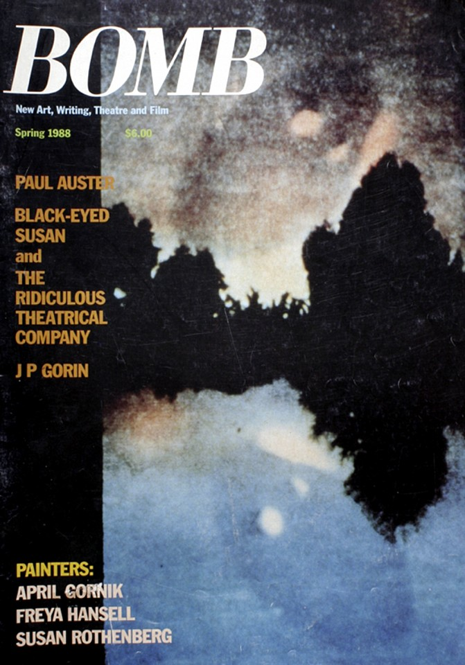 Oliver Wasow, Bomb Magazine (New Art, Writing, Theatre and Film) 1988 Spring, Commercial publication