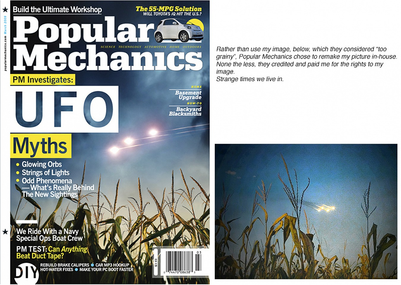 Oliver Wasow, Popular Mechanics 2009 March, Commercial publication
